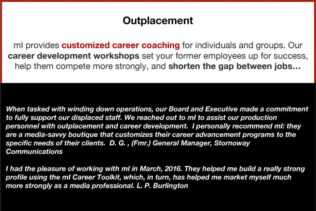 Career Services, Coaching, Resources, Strategies, Positioning, Brand, Outplacement, Workshops